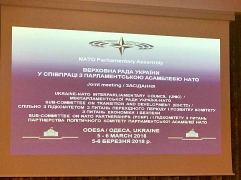 Засідання Міжпарламентської ради Україна-НАТО відбувається спільно з виїзним засіданням підкомітетів Політичного комітету і Комітету з питань економіки і безпеки ПА НАТО
