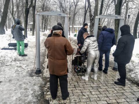 У парку Шевченка мітингують партійці Саакашвілі, чекають на Порошенка
