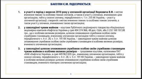 Луценко: Бакулін організував низку злочинів в ОЗУ Януковича