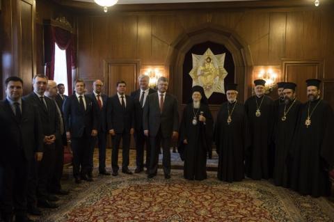 Президент України провів зустріч зі Вселенським Патріархом Варфоломієм І