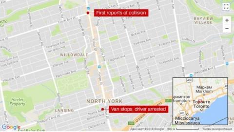 У Торонто мікроавтобус наїхав на людей, є загиблі