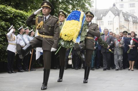 Президент вшанував пам'ять загиблих у Другій світовій війні
