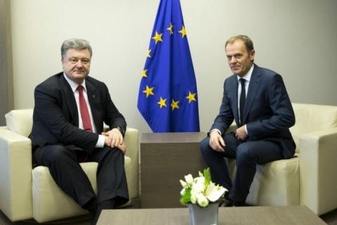 Порошенко і Туск домовилися про проведення саміту Україна-ЄС