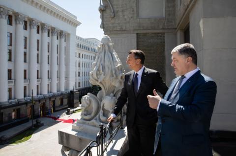 Україна за останні 4 роки дуже просунулась вперед – Президент Словенії за результатами переговорів з Главою Української держави