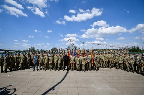 Президент нагородив військовослужбовців морської піхоти ЗСУ