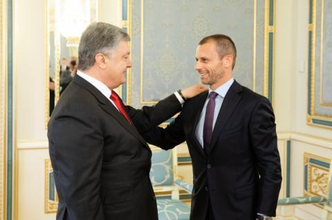 Президент України провів зустріч з Президентом УЄФА