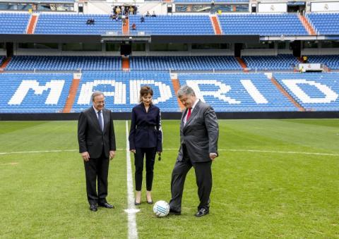 Президент України в Мадриді зустрівся з Президентом футбольного клубу «Реал»