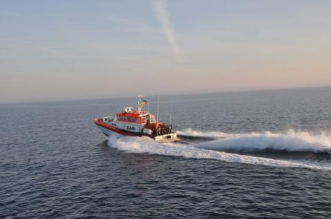 Казенне підприємство «Морська пошуково-рятувальна служба» Міністерства інфраструктури України вперше взяло участь у міжнародних навчаннях разом з Румунською стороною в акваторії Чорного моря