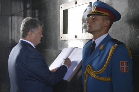 Президент у Белграді поклав вінок з квітівдо пам'ятника Невідомому герою