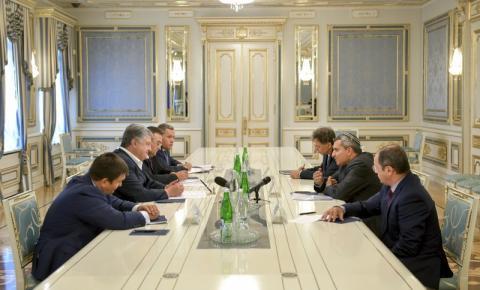 Президент України провів зустріч з Міністром з питань охорони навколишнього середовища, Міністром у справах Єрусалима та спадщини Держави Ізраїль