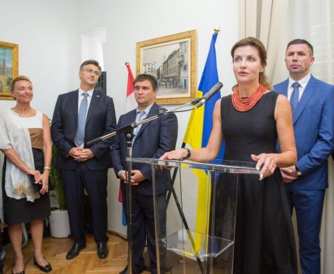 Марина Порошенко взяла участь у відкритті офісу Почесного консульства України у м. Спліт