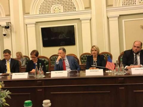 Відбулася зустріч керівництва Верховної Ради України та представників депутатських фракцій та груп зі спеціальним представником США з питань України Куртом Волкером