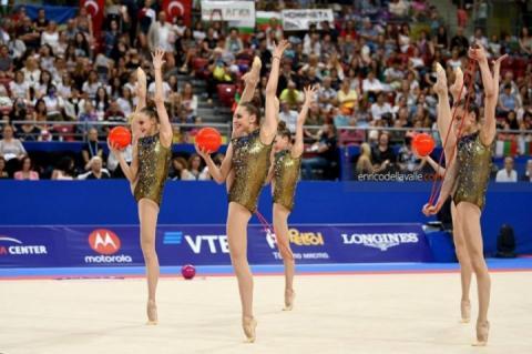 Збірна України з художньої гімнастики виграла «бронзу» ЧС-2018 в Болгарії