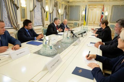 Президент України зустрівся з Президентом ПарламентуНорвегії