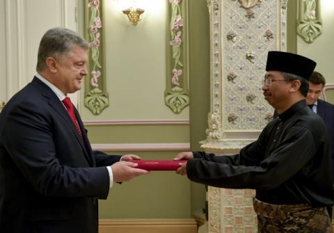 Президент прийняв вірчі грамоти від послів низки іноземних країн