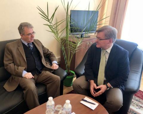 Голова Комітету з питань прав людини, національних меншин і міжнаціональних відносин провів зустріч з Послом Греції