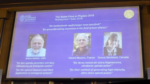 Нобелівську премію з фізики вручили за лазерні технології
