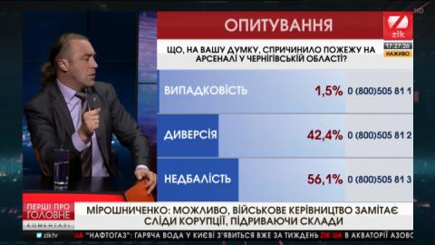Мірошниченко про вибухи арсеналів: Скоро нічим буде захищатися – з вилами підемо на ворога