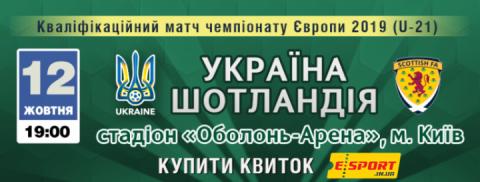 Матч молодіжного Євро-2019 Україна – Шотландія в Києві судитимуть шведи