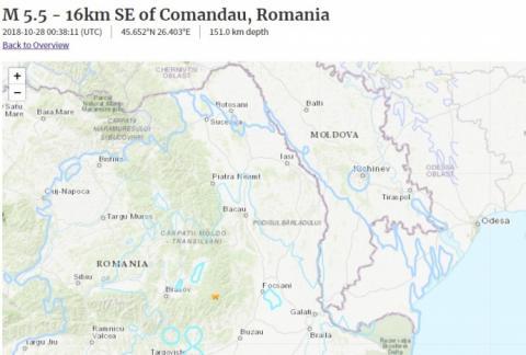На Одещині відчувалися поштовхи від землетрусу в Румунії