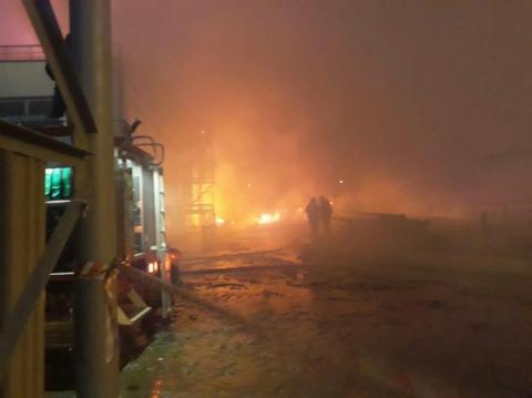 ДСНС: Пожежу на маслозаводі під Одесою локалізували, постраждалих немає