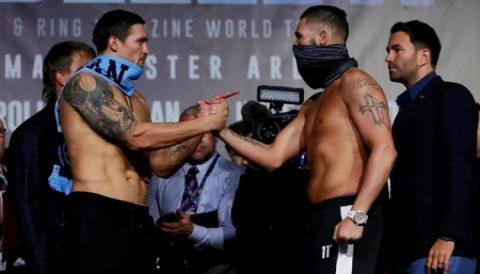 У Манчестері Олександр Усик сьогодні боксуватиме проти Тоні Беллью
