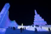 110 тисяч кубічних метрів льоду: У Китаї засяяв парк «Світ льоду та снігу»