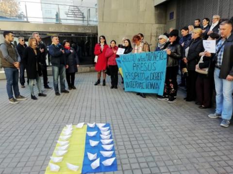 У різних містах Іспанії пройшли акції на підтримку українських моряків