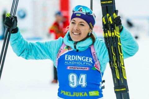 Біатлоністка Юлія Джима: Це не останнє перше місце в цьому сезоні