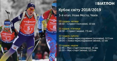 Україна назвала склад на третій етап Кубка світу-18/19 з біатлону