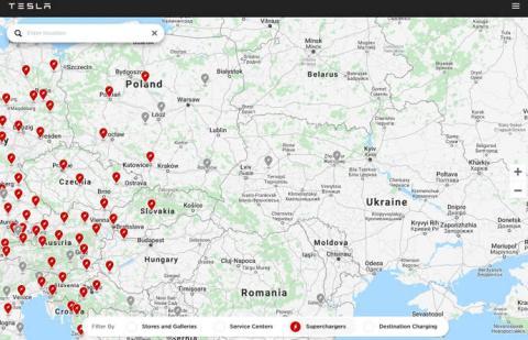 Маск анонсував появу Tesla Supercharger в Україні