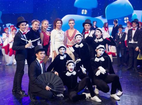 Марина Порошенко взяла участь у відкритті новорічної вистави «Академія Бешкетників»