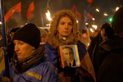 У Києві пройшли марші націоналістів до ювілею Бандери