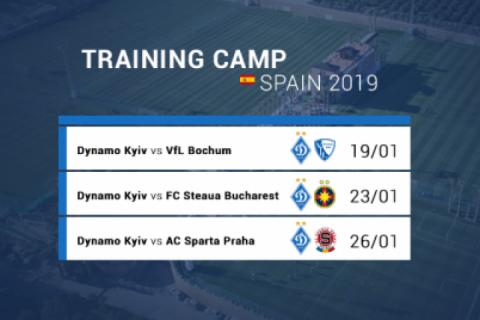 Київське «Динамо» назвало усіх трьох суперників на першому зборі 2019 року