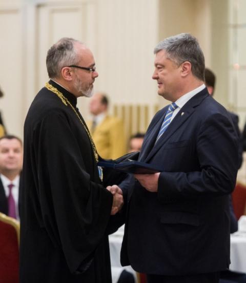 Президент України нагородив священнослужителів Вселенського патріархату
