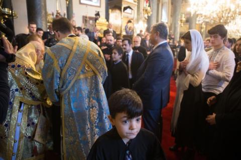 Президент прийняв причастя у Храмі Св.Георгія Вселенського Патріархату