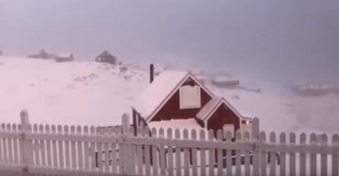 У Гренландії закрили установи і школи: пориви вітру сягають 145 км/год. Відео