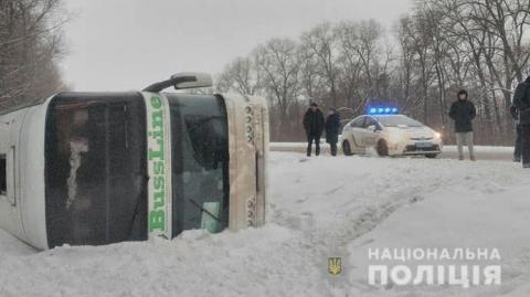 На Чернігівщині перекинувся автобус «Київ-Москва» – є постраждалі