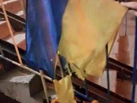У Кривому Розі покарали чоловіка, який поглумився над прапором України