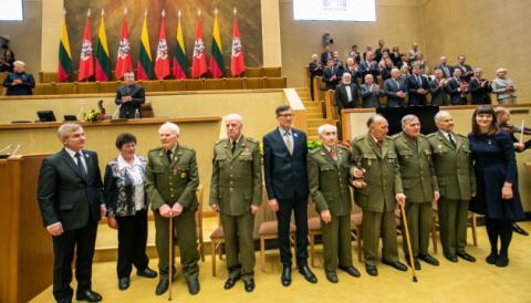 У Литві Премію свободи вручили сімом партизанам