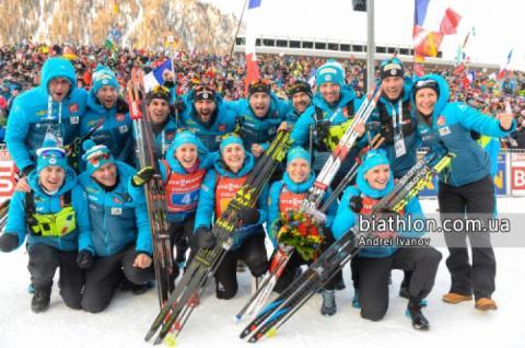На п'ятому етапі КС-18/19 з біатлону українки в естафеті посіли 15-е місце
