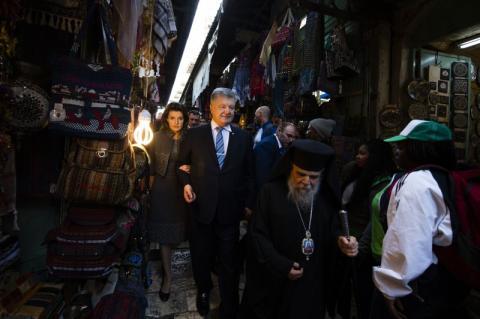 Президент зустрівся з Генеральним секретарем Єрусалимського патріархату, архієпископом Аристархом та відвідав Храм Гробу Господнього