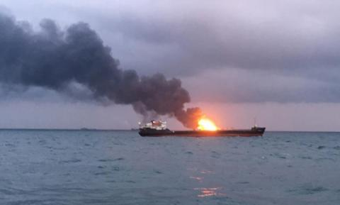Кількість загиблих час пожежі на суднах поблизу Керченської протоки зросла до 14