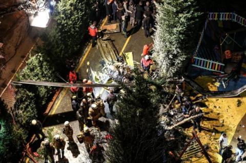 В результаті падіння вертольоту в Стамбулі загинули 4 військових