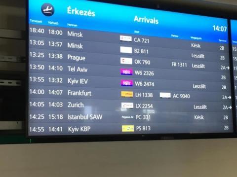 Аеропорти Будапешта і Таллінна виправили назву Kiev на Kyiv