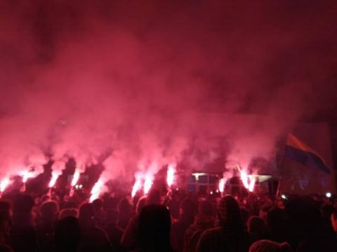 У столиці близько півтисячі людей мітингували під МВС