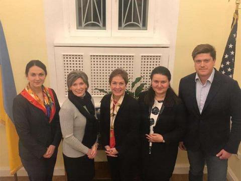Голова Комітету у закордонних справах Ганна Гопко взяла участь у зустрічі з представником Комітету Сенату з питань збройних сил і безпеки США Джоні Ернст
