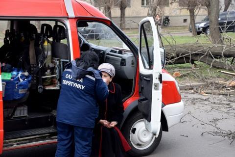 Дерево впало на маршрутку в Миколаєві: серед травмованих – діти