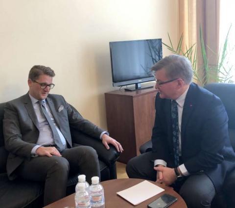 Голова Комітету з прав людини Григорій Немиря провів зустріч з Послом Румунії в Україні Крістіаном-Леоном Цуркану