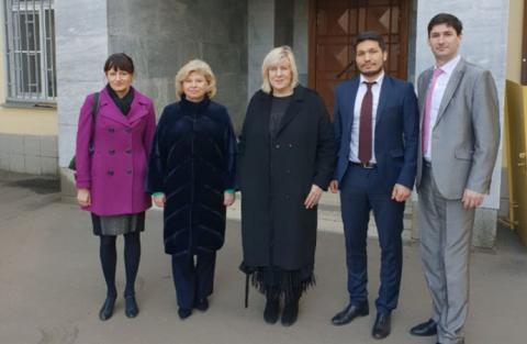 Москалькова звозила комісара Ради Європи в СІЗО до українських полонених